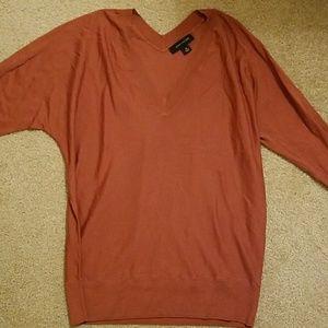 Ann Taylor 3/4 sleeve burnt orange sweater.